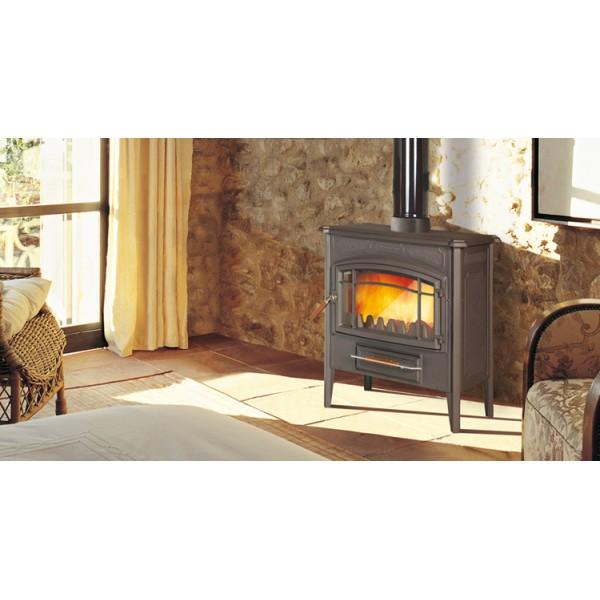 Estufas de le a e 10n tienda hergom chimeneas y calefacci n - Estufa lena calefaccion radiadores ...
