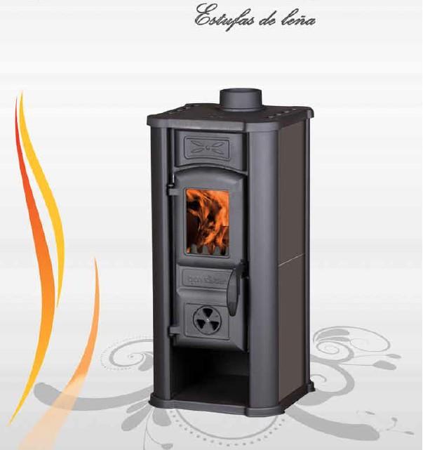 Diana estufas de le a tienda hergom chimeneas y calefacci n - Adaptar chimenea para calefaccion ...